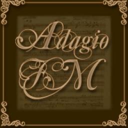 Логотип Adagio.FM – Бесконечная Классическая музыка.
